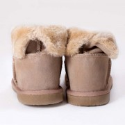 Fur Ankle Boots Camel