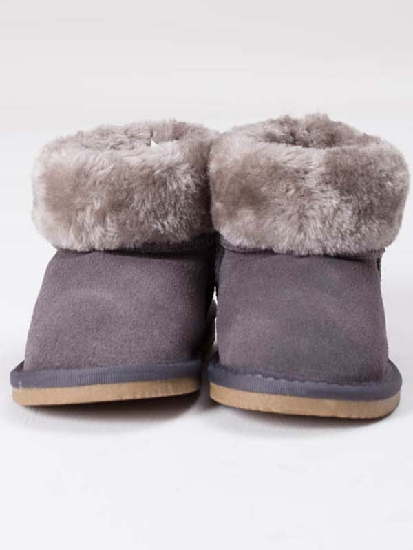 Fur Ankle Boots Grey