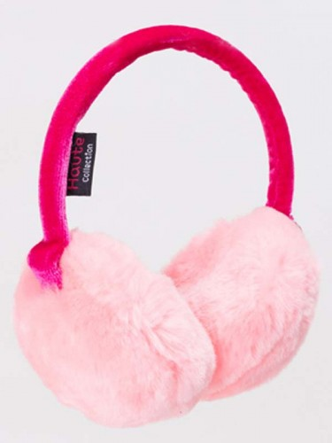 Pink Fluffy Ear Muffs