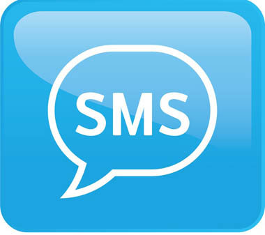 Icon SMS Blue Square