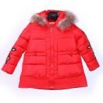 Jacket Parasut Fur Collar Kids Red