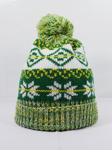 Knitted Beanie Hat 001-074K-Green Mix