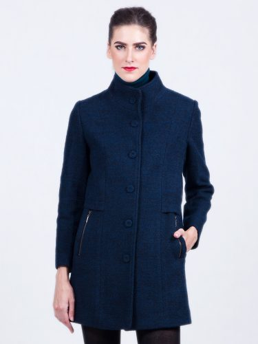 Ladies coats high collar Navy