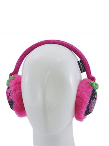 Love Strawberry Earmuff - Pink Black